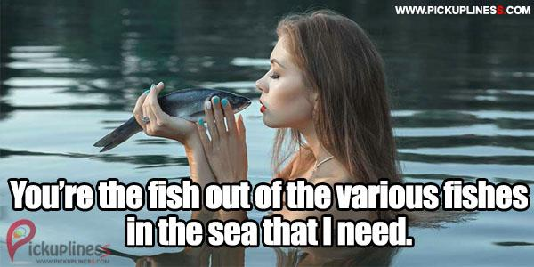 Fishing pick up lines